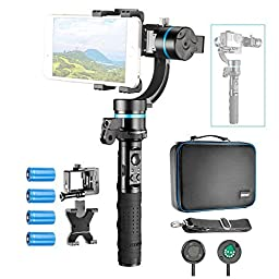 Neewer NW3D2 3-Axis Handheld Gimbal Stabilizer, Mountable and Detachable Wired Control Gimbal with 1/4-inch Female Thread for iPhone 7 7Plus Samsung S6, GoPro Hero 4 3+ GoPro Accessories