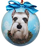 Schnauzer Christmas Ornament Shatter Proof Ball Easy To Personalize A Perfect Gift For Schnauzer Lovers