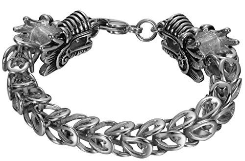 Alimab Jewelery Women's Men's Stainless Steel Bangle Bracelets Dragon Head - Headies Head Shop