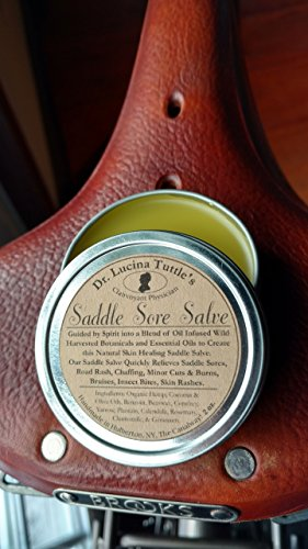 (Dr. Tuttle's Saddle Sore Salve 2oz. - Natural Hemp Oil Chamois Salve to Prevent and Heal Saddle Sores for Cyclists and Equestrians)