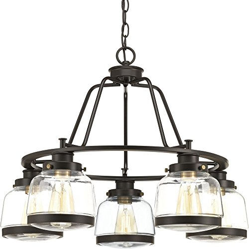 Progress Lighting P400058-020 Judson Five-Light Chandelier, Antique Bronze