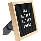 The ONLY Letter Board with built-in Storage and Easel Back - 10x10 black felt 340 characters