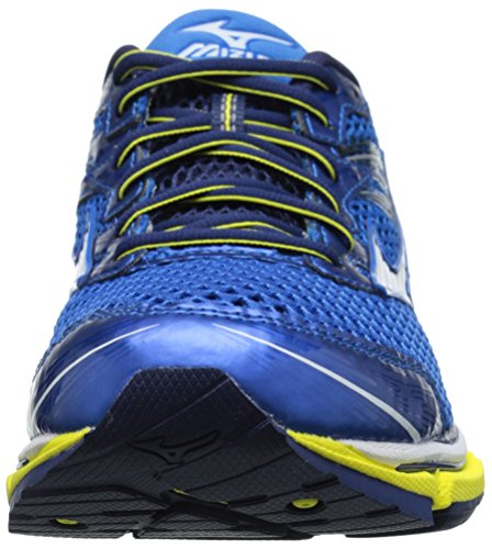Mizuno Hombre Wave Enigma 5 Zapatilla de Running Electric Blue-Lemonade-White Bolt
