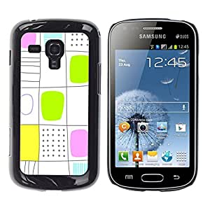 - Square Check Damier Checkered Pattern - - Hard Plastic Protective Aluminum Back Case Skin Cover FOR Samsung GALAXY Trend Duos S7562 Queen Pattern