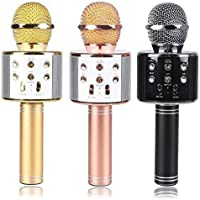SHOPPOWORLD Handheld Wireless Bluetooth Microphone HIFI Speaker Bluetooth Mike for Karaoke Singing Parties and Get together (Assorted Color)