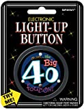 "AMSCAN Electronic Light-Up 2-1/2"" Button: Over The Hill 40"