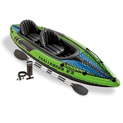 Intex-Challenger-K2-Kayak-2-Person-Inflatable-Kayak-Set-with-Aluminum-Oars-and-High-Output-Air-Pump