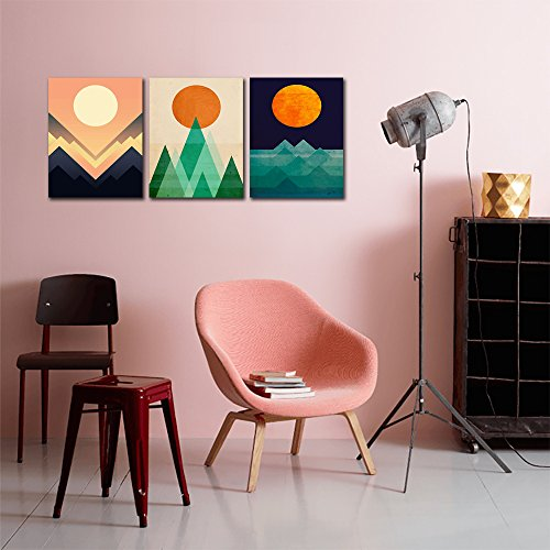 Amazon.com: Gardenia Art - Abstract Sunrise and Sunset Canvas Prints ...