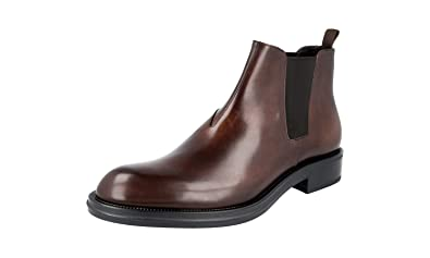 dad17c5d1cb5 Prada Men s 2TC052 Brown Leather Half-Boot EU 9 (43)   US 10
