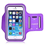Universal Sports Armband, MoKo Water Resistant Running Case Workout Arm Band Cover for iPhone 6S, 6, 5S, 5, SE, Galaxy S7, S6, S6 edge, J5, BLU 5.0, Moto G, Pixel Huawei Sony LG, Purple