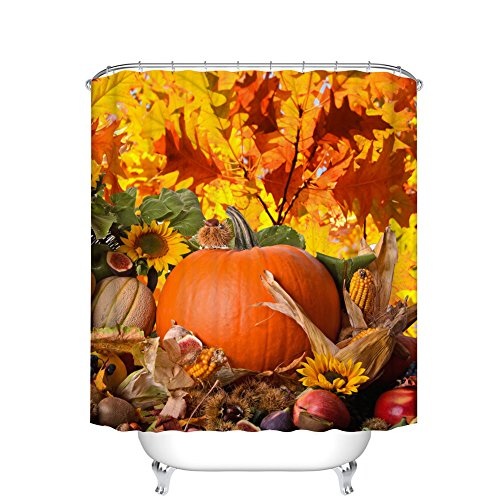 Fangkun Pastoral style Decor Shower Curtain Set - Autumn Lea
