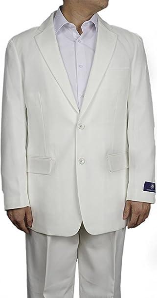 Amazon.com: Hombres Nuevos Vestido botón 2 crema – Traje ...