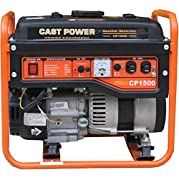Cast Power CP1500, 1000 Running Watts/1800 Starting Watts,Oil Powered Portable Generator
