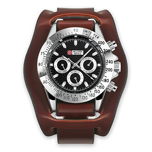 Automatic Military Mens Strap Watch Mechanical Leather Army Black Dial Daytona Best Gift for Friends Lovers Family
