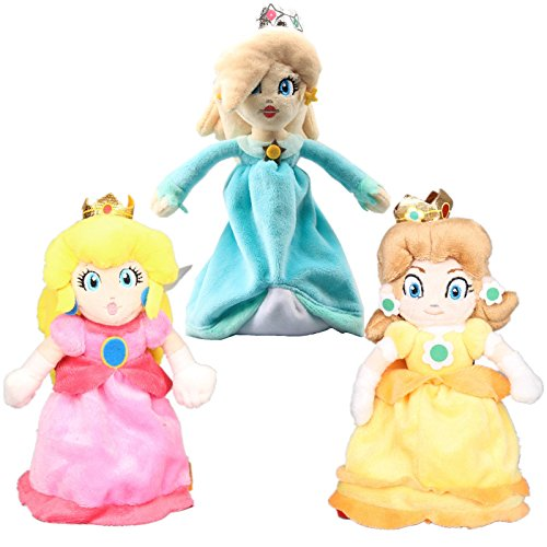 UiUoU Super Mario Bros. Princess Peach & Daisy & Rosalina Plush 8'' Set of -