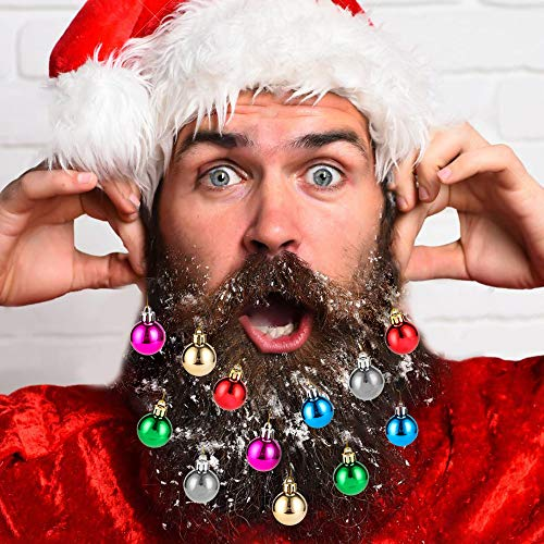 Beard Ornaments, 12pc Colorful Beard Ornaments Christmas Facial Hair Baubles Clips for Men Holiday Decoration for $<!--$5.99-->