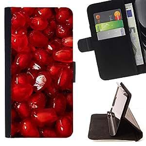 - Red fruit - - Monedero PU titular de la tarjeta de cr????dito de cuero cubierta de la caja de la bolsa FOR Samsung Galaxy S5 V SM-G900 RetroCandy
