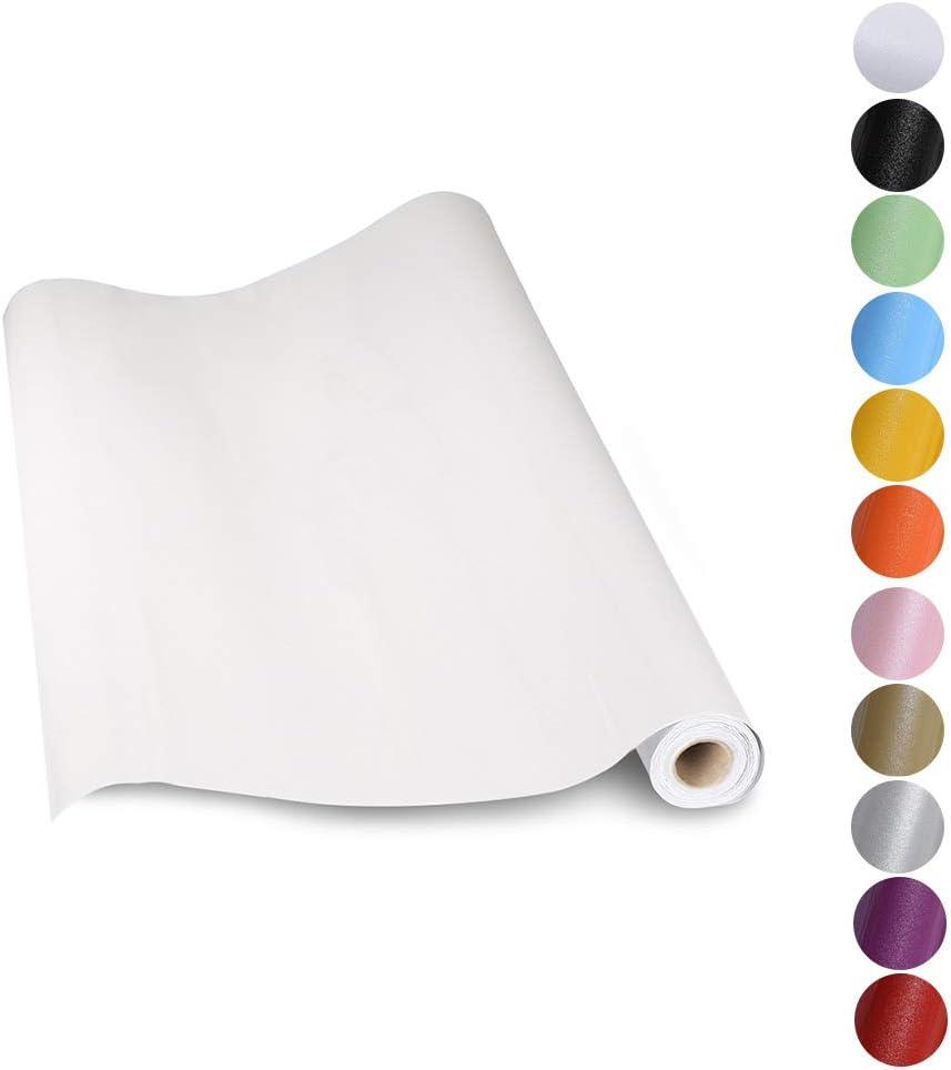KINLO Pegatina para Muebles, Engomada Autoadhesiva de PVC para Decorar y Proteger , Pegatina para Muebles Cocina Baño, a Prueba de Agua de Moho,0.61*5M per Rollo