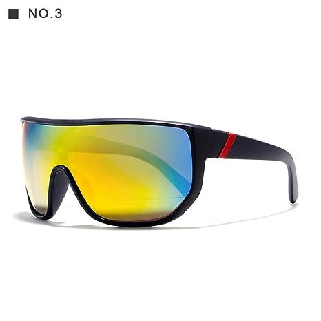 Yangjing-hl Gafas de Sol de Gran tamaño para Hombres con ...