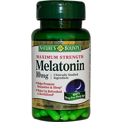 Nature's Bounty Maximum Strength Melatonin 10mg Capsules, MegaQuantity PacK of 6 (360-Count Total) by Nature's Bounty (Image #1)