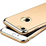 iPaky Chrome 3 Piece Hybrid Protective Back Case Cover for Apple iPhone 7 - Gold