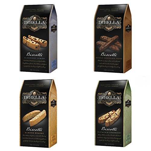 Dibella Pistachio Cranberry, Blueberry Lemon, Almond Orange & Double Chocolate Biscotti Bundle