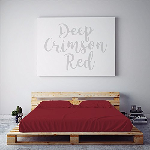- PeachSkinSheets Night Sweats: The Original Moisture Wicking, 1500tc Soft Queen Sheet Set DEEP Crimson RED