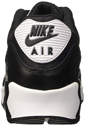 metallic Running Wmns Nike Air Nero Max Donna White Black 90 Essential Scarpe Silver da 07wf1wqBx