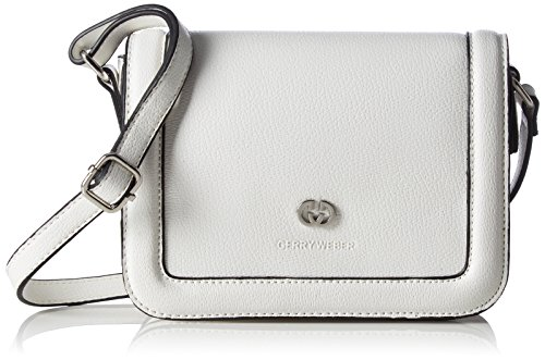GERRY WEBER Rainbow Flap Bag H, S - Bolso bandolera Mujer Blanco - blanco (White 100)