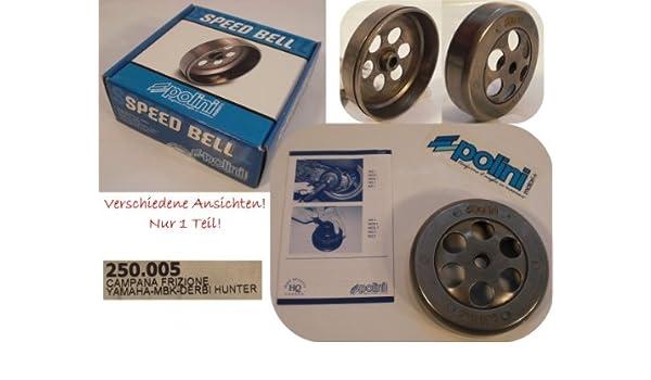 Polini Campana de embrague (Speed Bell Derbi Yamaha Mbk: Amazon.es: Coche y moto