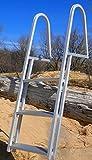 3 Step Fixed Aluminum Pontoon Dock Swimming Pool Ladder