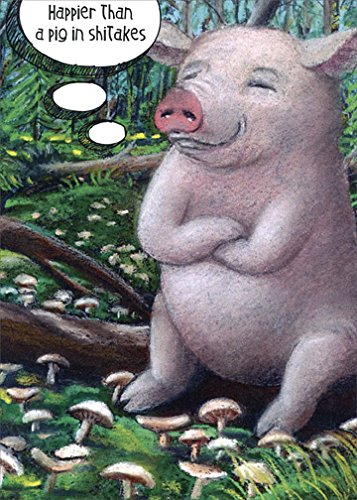 Pig Birthday Card - Pig in Shitakes Tree-Free Greetings Funny/Humorous Birthday Card