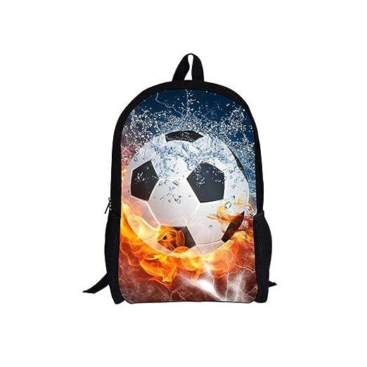 Mochila para Niños Fútbol Colorido Impresión En 3D Bolsas De ...
