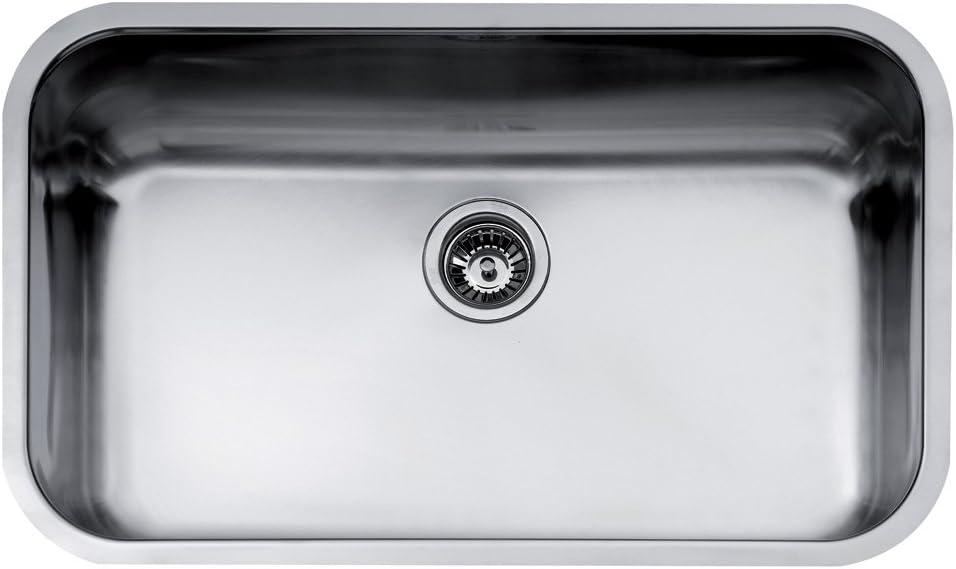 fregadero de cocina be 74.43 teka bajo encimera de acero inoxidable