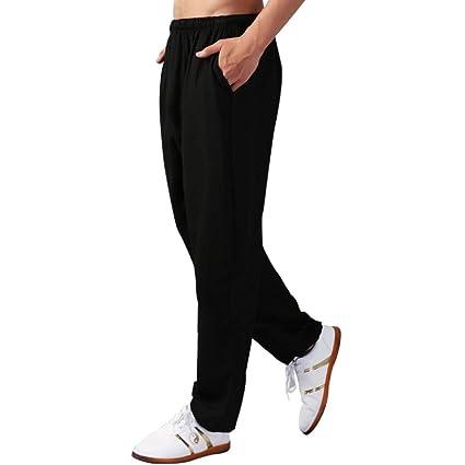 dududrz Pantalones Tai Chi Hombre Mujer Yoga Entrenamiento ...