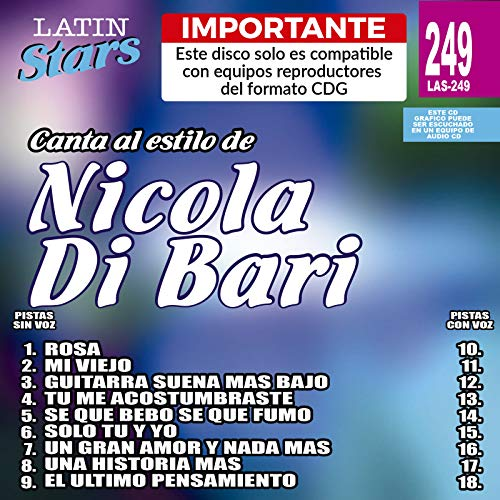 Vol.2-Karaoke Latin Stars: Nicola di Bari: Amazon.es: Música