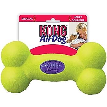 KONG Air Dog Squeaker Bone Dog Toy, Large, Yellow