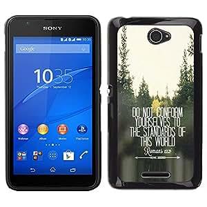 iKiki Tech / Estuche rígido - Conformarse Inspiring Presupuesto gratuito - Sony Xperia E4