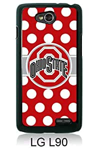 Beautiful And Unique Designed Case For LG L90 With Ncaa Big Ten Conference Football Ohio State Buckeyes 45 black Phone Case