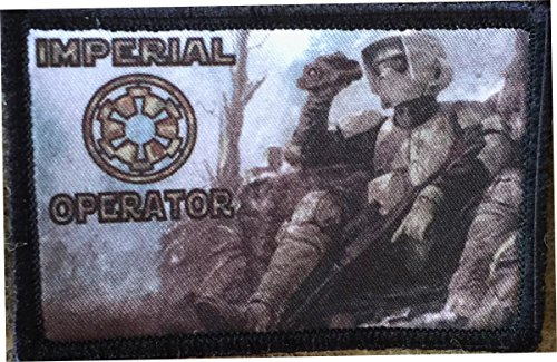 Star Wars Stormtrooper Imperial Operator Scout Trooper Morale Patch. Perfect for your Tactical Military Army Gear, Backpack, Operator Baseball Cap, Plate Carrier or Vest. 2x3 Patch. Made in the USA