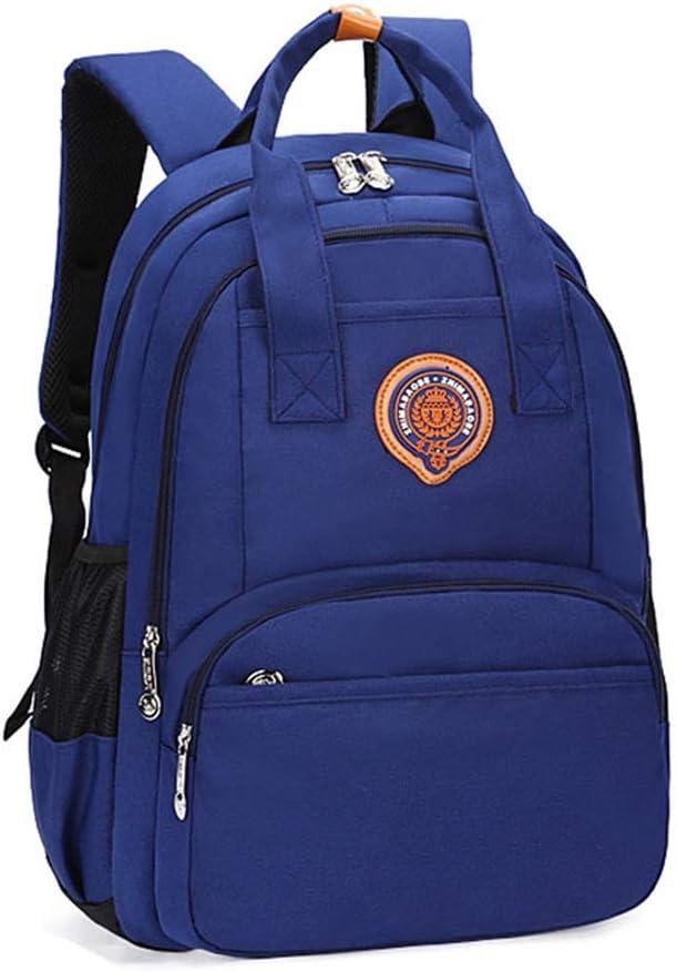 Color : Navy Blue, Size : 422814cm Monkibag-Kid Schoolbag Children Primary School Bags Orthopedic Kids Backpack Schoolbag Bookbag