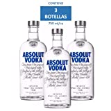 Vodka Absolut Azul 750 Ml / 3 botellas