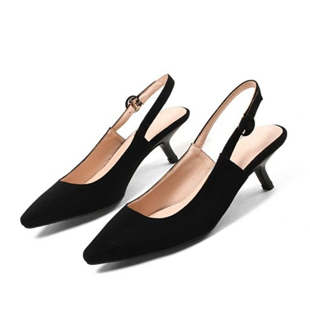 AicciAizzi Women Slingback Sandals Pointed US Toe B07CVCQFSB 9 US Pointed = 25.5 CM|Black e2a265