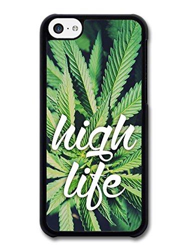 High Life Stoner Stoned Baked Cannabis Marijuana Grunge Cool Design case for iPhone 5C