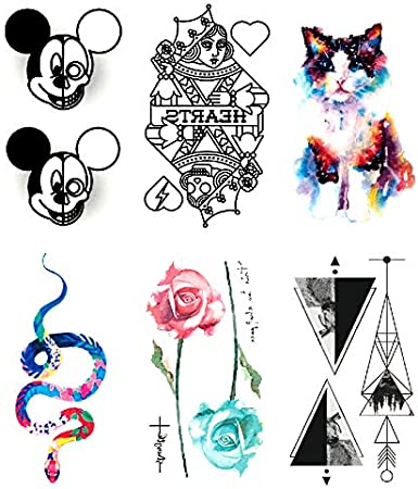 Oottati 6 Hojas Pequeño Lindo Tatuaje Temporal Tattoo Tarjeta Del ...