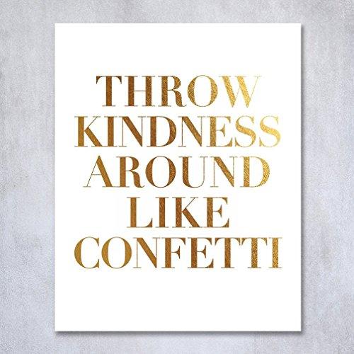 Kindness Around Confetti Inspirational Metallic product image