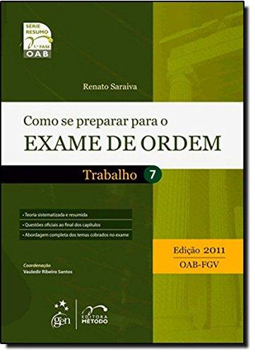 Read Online Como Se Preparar Para o Exame de Ordem - Volume 7 PDF
