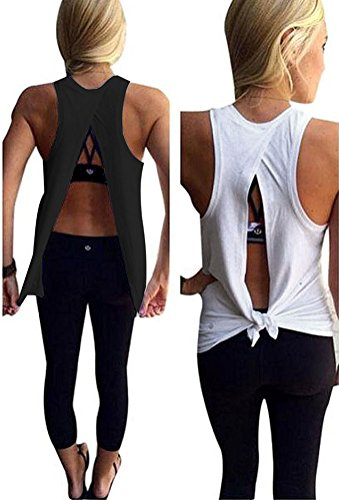 womens backless tank top - 3