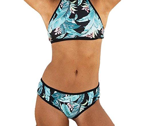 Trendy-Nicer Women Printed Swimwear Swimsuits Woman Sexy Brazilian Swimwear Bikini,R1002,XL