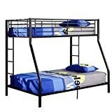 Best Walker Edison Bunk Beds - Walker Edison Twin-Over-Full Metal Bunk Bed, Black Review